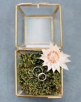 Moss-Filled Glass Ring Box