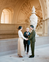 Thai Buddhist temple Town Hall ceremony wedding