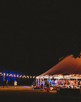 hadley corey wedding tent exterior night lights