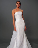 isabelle armstrong fall 2019 strapless trumpet wedding dress
