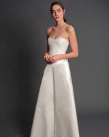 isabelle armstrong fall 2019 strapless a-line floral applique wedding dress