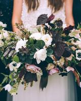 wedding bouquet green white flowers