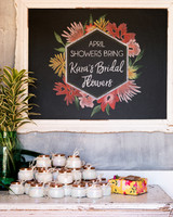 kara bridal shower signage