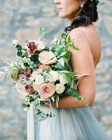kelly pete wedding bridal bouquet