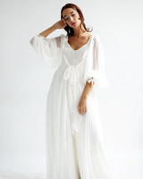 leanne marshall wedding dress spring 2019 bell sleeves bows