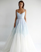 leanne marshall wedding dress spring 2019 spaghetti strap ruffles a-line blue