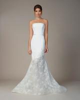 liancarlo wedding dress fall 2018 strapless sheath