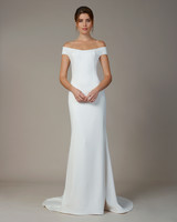 liancarlo wedding dress fall 2018 sheath off-the-shoulder