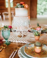 macrame wedding decor lauren rae photo