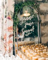 maggie zach wedding mirror and sugar