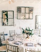 maggie zach wedding round table