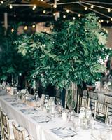 maggie zach wedding table tall centerpiece