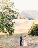 megan scott wedding couple in field