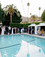 michael thomas wedding guests pool