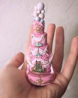 pink miniature cake