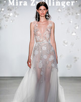 mira zwillinger graphic illusion neck wedding dress spring 2020