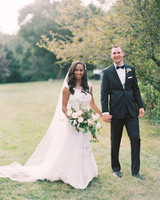 miya matthew wedding couple holding hands