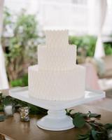 3-tier white texturized cake