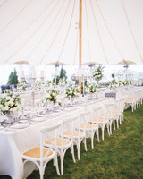Elegant White Long Reception Tables