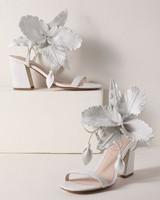 outdoor wedding shoes hibiscus strappy block heels
