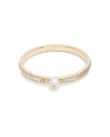 "Anissa Kermiche ""Perle Rare"" Diamond, Pearl, and Yellow Gold Ring"