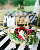 red pink floral centerpiece