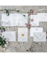 sara sam italy wedding stationery