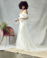 savannah miller tulle off the shoulder wedding dress spring 2020