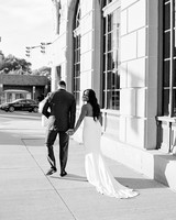 shanice & stephen wedding couple walking