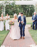 shelby preston wedding ceremony couple