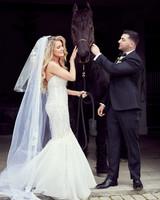 shqipe zenel wedding couple with horse
