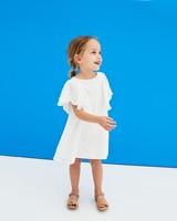 Summer Flower Girl Dresses, Eyelet Dress from Zara with Flutter Sleeves