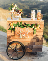 s'mores bar cart