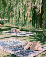 ceremony seating with rugs