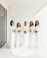 vanessa abidemi wedding bridesmaids in white