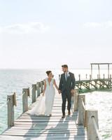 vicky james mexico wedding bride groom dock