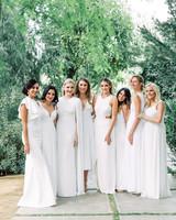 white bridesmaid dresses jana williams
