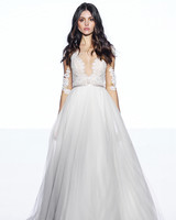 wtoo by watters tulle a line elbow length sleeves wedding dress spring 2020
