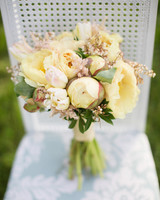 full bodied floral bouquet with yellow peonies