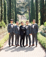 yiran yexiang wedding groom groomsmen outdoors