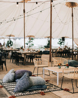 zai phil camping wedding welcome dinner tent seating