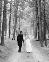 adele seth wedding michigan couple walking path