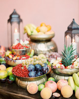 wedding welcome fruits food