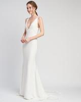 thick spaghetti strap deep v-neck short train a-line wedding dress Lover of Mine by Alexandra Grecco Spring 2020