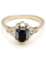 Anna Sheffield Oval Engagement Ring