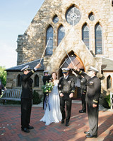 anne and staton wedding saber arch