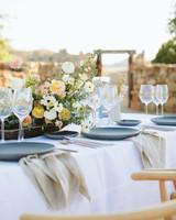 ashley basil wedding reception table