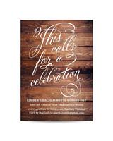 bachelorette party invites papyrus wood