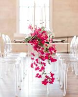bougainvillea flowers hanging centerpiece