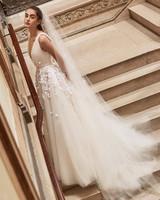 Carolina Herrera wedding dress spring 2019 v-neck ballgown floral applique